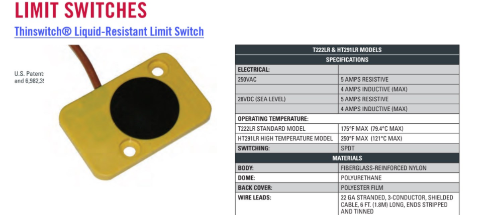 Liquid Resistant Mold Limit Switches