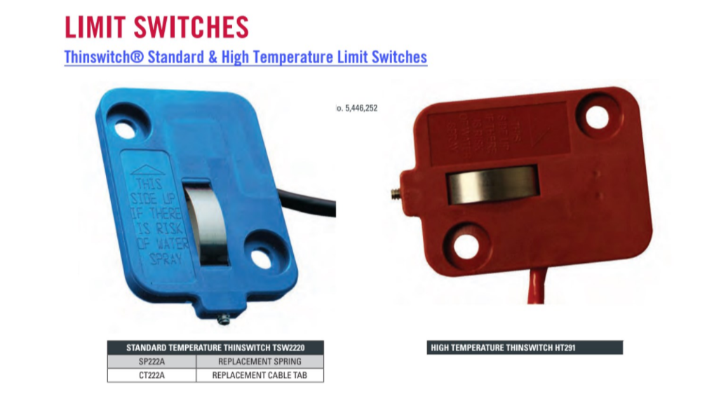 Standard & High Temperature Limit Switches