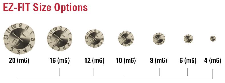DME Blind-hole-sizes