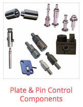 dme mold component plate and pin control